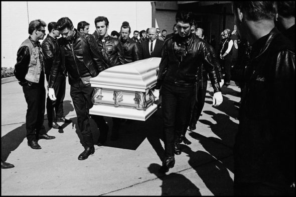 USA. Detroit, Michigan. 1965. Renegade's funeral.